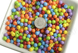 MIXED Color 6mm Solid Gumball Beads