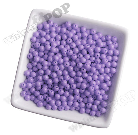 LIGHT PURPLE 6mm Solid Gumball Beads - WhimsyandPOP