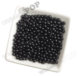 BLACK 6mm Solid Gumball Beads - WhimsyandPOP