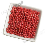 RED 6mm Solid Gumball Beads