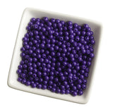 PURPLE 6mm Solid Gumball Beads