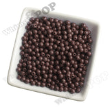 BROWN 6mm Solid Gumball Beads - WhimsyandPOP