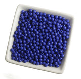 DARK BLUE 6mm Solid Gumball Beads - WhimsyandPOP