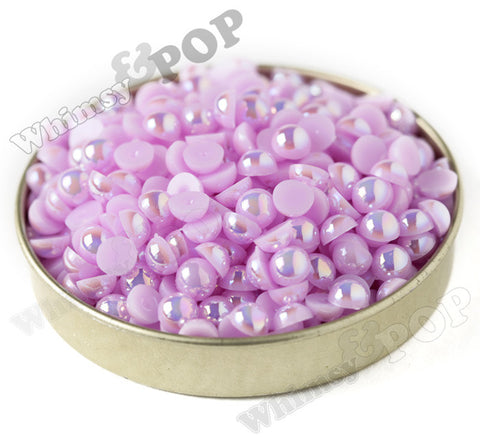 LILAC PURPLE 6mm AB Flatback Pearl Cabochons - WhimsyandPOP