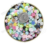 GREEN 6mm AB Flatback Pearl Cabochons - WhimsyandPOP