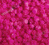 HOT PINK 7mm Teeny Tiny Flower Cabochons - WhimsyandPOP