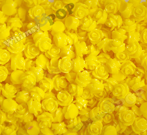YELLOW 7mm Teeny Tiny Flower Cabochons - WhimsyandPOP