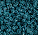 MIDNIGHT BLUE 7mm Teeny Tiny Flower Cabochons - WhimsyandPOP