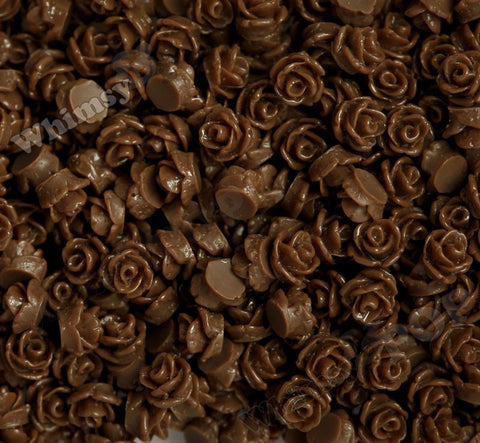 BROWN 7mm Teeny Tiny Flower Cabochons - WhimsyandPOP