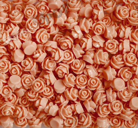 CORAL 7mm Teeny Tiny Flower Cabochons - WhimsyandPOP
