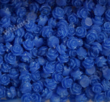ROYAL BLUE 7mm Teeny Tiny Flower Cabochons
