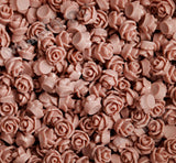 DUSTY MAUVE 7mm Teeny Tiny Flower Cabochons - WhimsyandPOP