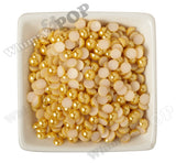 YELLOW 8mm Flatback Pearl Cabochons - WhimsyandPOP