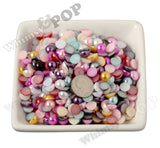 MAGENTA PINK 8mm Flatback Pearl Cabochons - WhimsyandPOP
