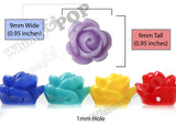 MIXED Color 9mm Rose Bud Flower Beads - WhimsyandPOP