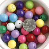 MIXED Color 16mm Solid Gumball Beads - WhimsyandPOP