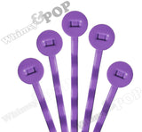 PLUM PURPLE 50mm Bobby Pin Blanks - 8mm Glue Pad - WhimsyandPOP