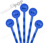 BLUE 50mm Bobby Pin Blanks - 8mm Glue Pad - WhimsyandPOP