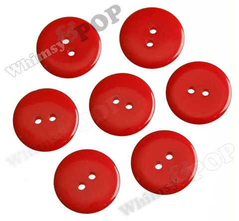 RED 23mm Resin Buttons