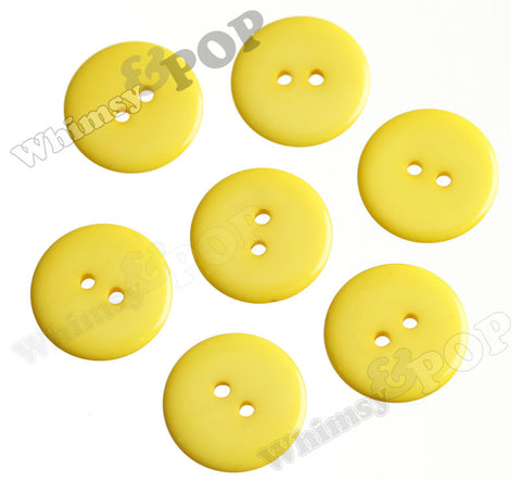 YELLOW 23mm Resin Buttons - WhimsyandPOP
