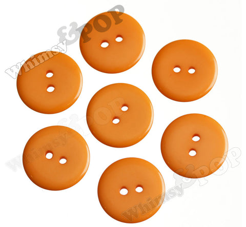 ORANGE 23mm Resin Buttons
