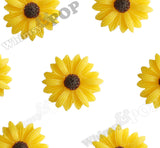 YELLOW 22mm Gerber Daisy Flower Cabochons - WhimsyandPOP