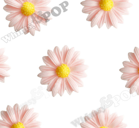 LIGHT PINK 22mm Gerber Daisy Flower Cabochons - WhimsyandPOP
