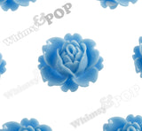 LIGHT BLUE 18mm Peony Flower Cabochons - WhimsyandPOP