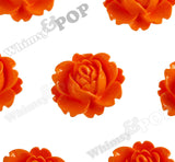 ORANGE 18mm Peony Flower Cabochons - WhimsyandPOP