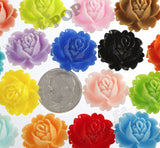 MIXED Color 18mm Peony Flower Cabochons - WhimsyandPOP