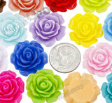 MIXED Color 20mm Large Detailed Flower Cabochons - WhimsyandPOP