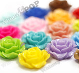 MINT GREEN 20mm Large Detailed Flower Cabochons