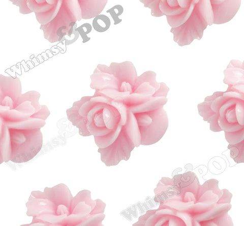 PINK 16mm Fancy Textured Flower Bouquet Cabochons