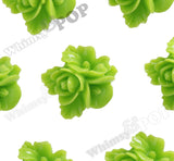 GREEN APPLE 16mm Fancy Textured Flower Bouquet Cabochons - WhimsyandPOP