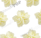YELLOW IVORY 16mm Fancy Textured Flower Bouquet Cabochons - WhimsyandPOP
