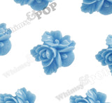 LIGHT BLUE 16mm Fancy Textured Flower Bouquet Cabochons - WhimsyandPOP
