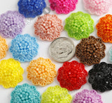 MIXED Color 20mm Flower Bunch Bouquet Cabochons