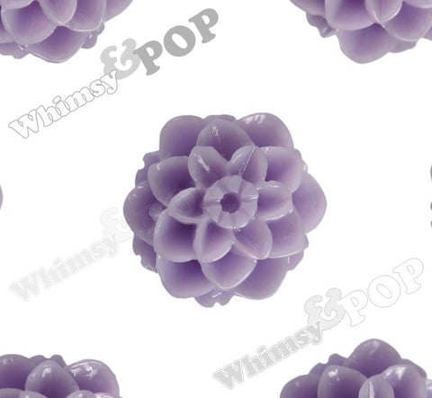 LAVENDER PURPLE 10mm Honeycomb Mum Dahlia Flower Cabochons - WhimsyandPOP