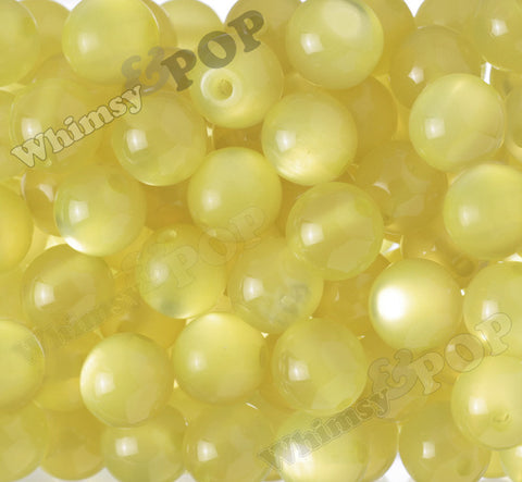 YELLOW 20mm Cats Eye Gumball Beads - WhimsyandPOP