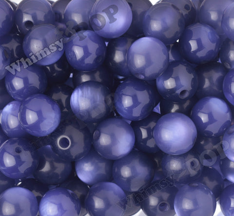 BLUE PURPLE 20mm Cats Eye Gumball Beads - WhimsyandPOP