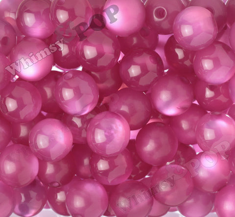 MAGENTA PINK 20mm Cats Eye Gumball Beads - WhimsyandPOP