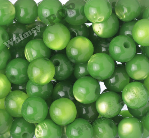 GREEN 20mm Cats Eye Gumball Beads - WhimsyandPOP