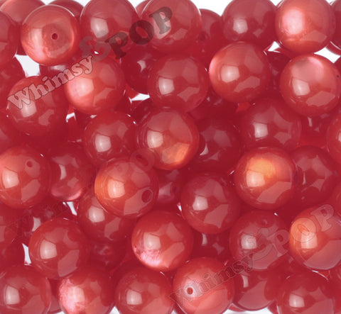 RED 20mm Cats Eye Gumball Beads - WhimsyandPOP