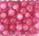 BUBBLEGUM PINK 20mm Cats Eye Gumball Beads - WhimsyandPOP