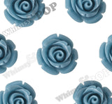 CORNFLOWER BLUE 12mm Rose Bud Flower Beads - WhimsyandPOP