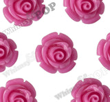 HOT PINK 12mm Rose Bud Flower Beads - WhimsyandPOP