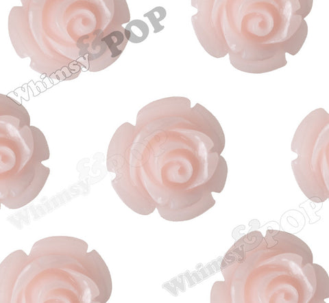 PALE PINK 12mm Rose Bud Flower Beads - WhimsyandPOP