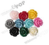 BLACK 12mm Rose Bud Flower Beads - WhimsyandPOP
