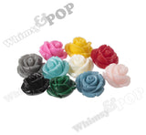 YELLOW 12mm Rose Bud Flower Beads - WhimsyandPOP