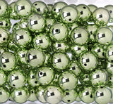 GREEN 20mm Platinum Metallic Gumball Beads - WhimsyandPOP